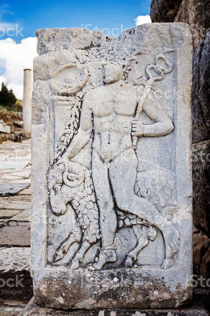 Statue in Ephesus royalty-free stock photo