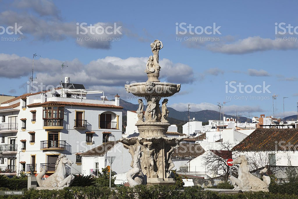 Statue in Estepona, Andalusia Spain stock photo