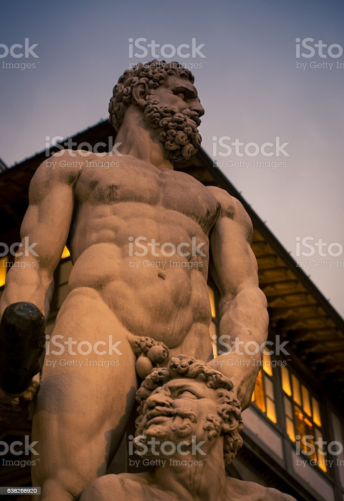 statue in florence stock photo