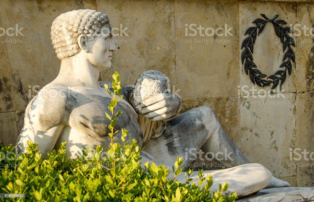 Statue in Greece stock photo