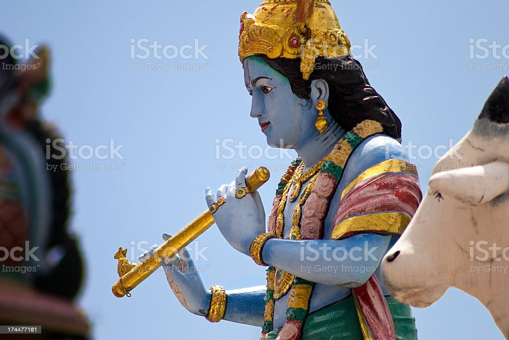 Statue in Hindu temple stock photo