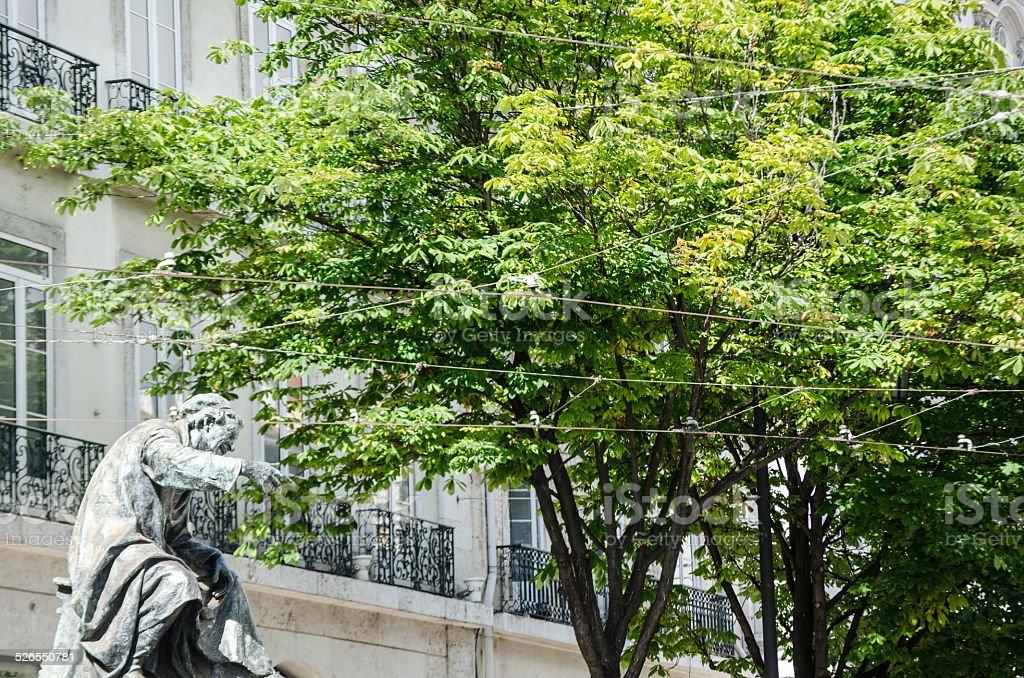 Statue in Lisbon stock photo
