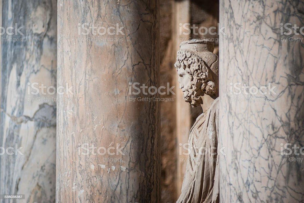 Statue in Merida Roman theater stock photo