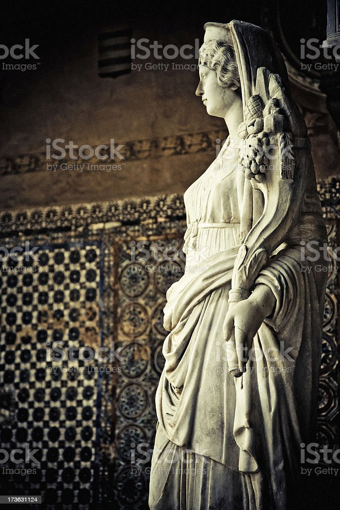 statue in pilates house royalty-free stock photo