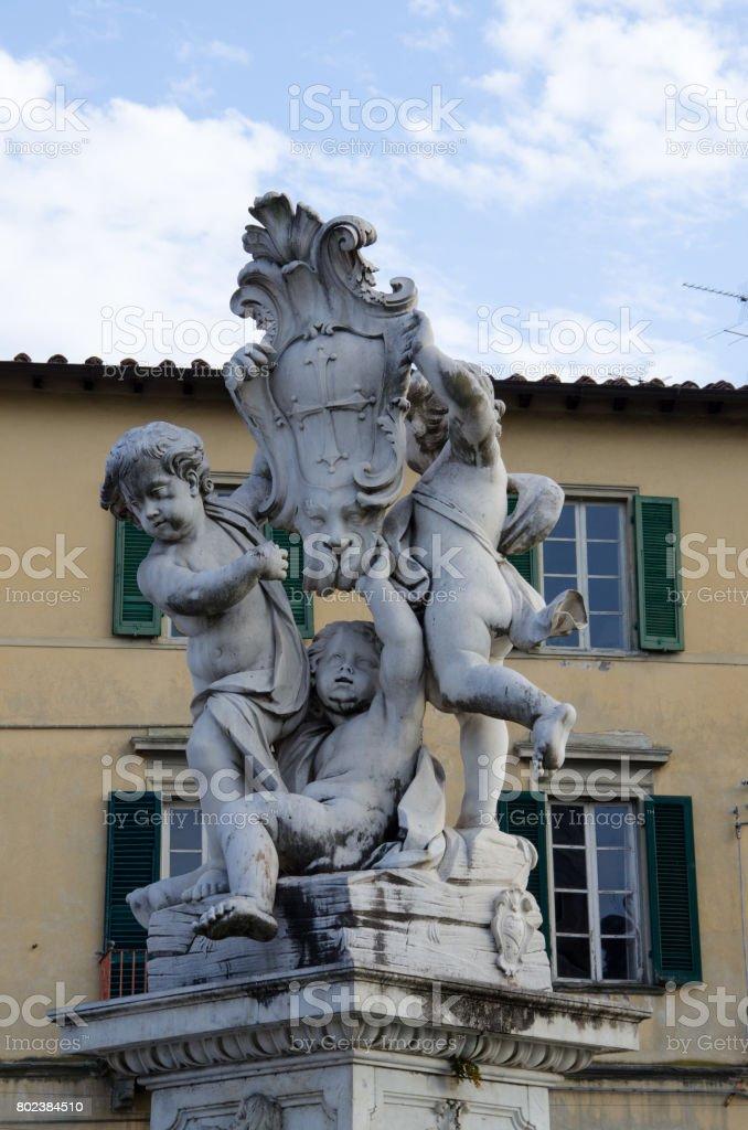 Statue in Pisa, Miracoli square stock photo