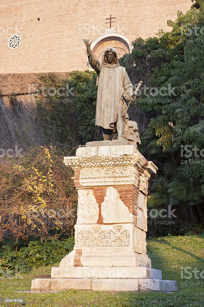 Statue in Rome royalty-free stock photo