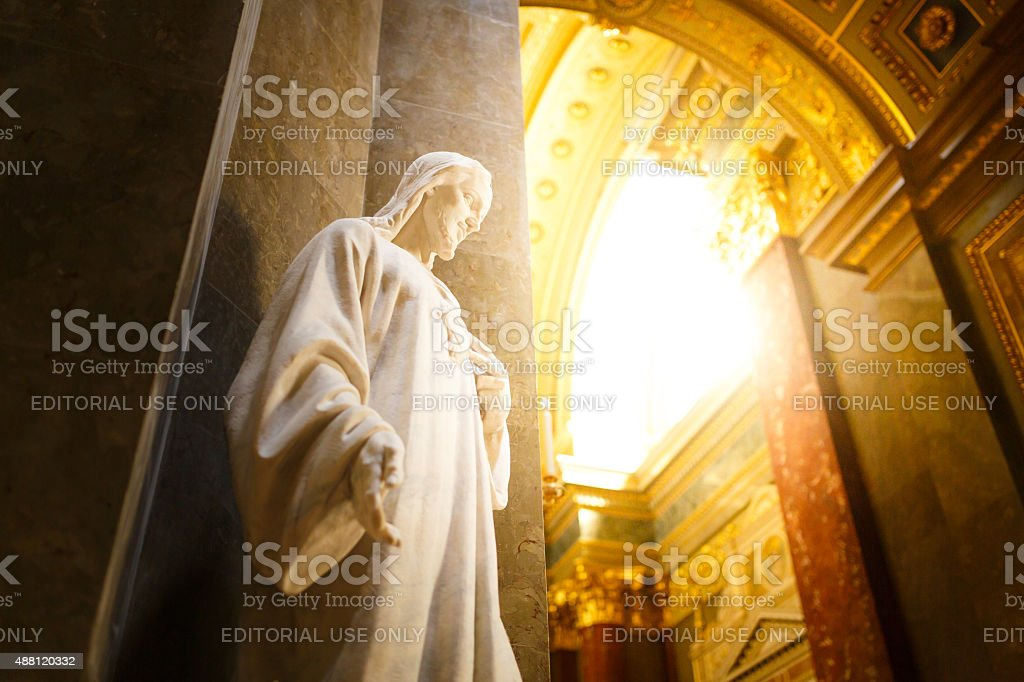 Statue in Saint Stephen's Basilica stock photo