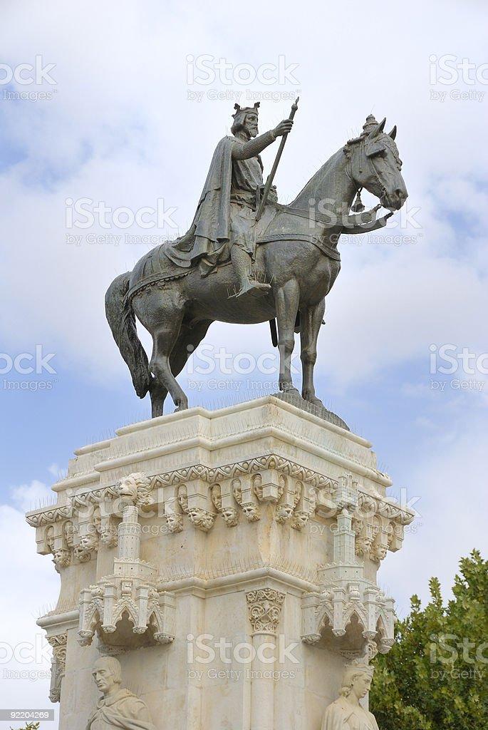 Statue in Sevilla royalty-free stock photo