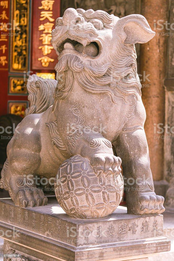 Statue in Tainan Confucian Temple in Taiwan stock photo