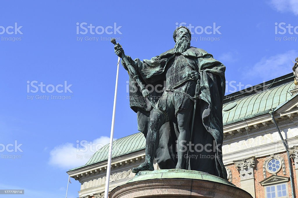 Statue in the center of Stockholm royalty-free stock photo