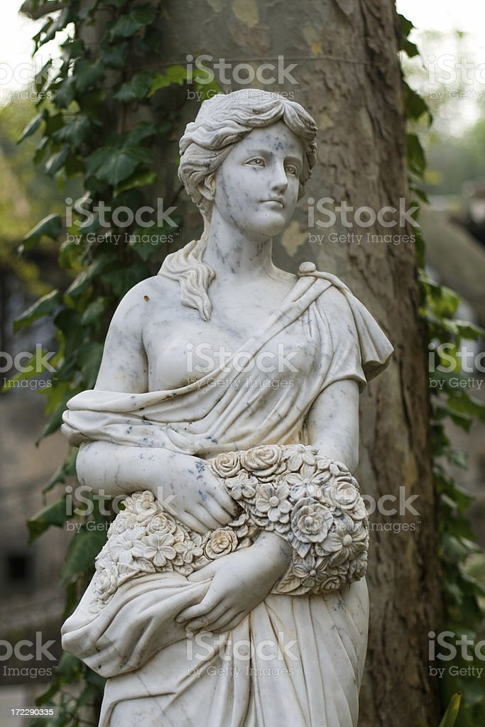 statue in the garden royalty-free stock photo