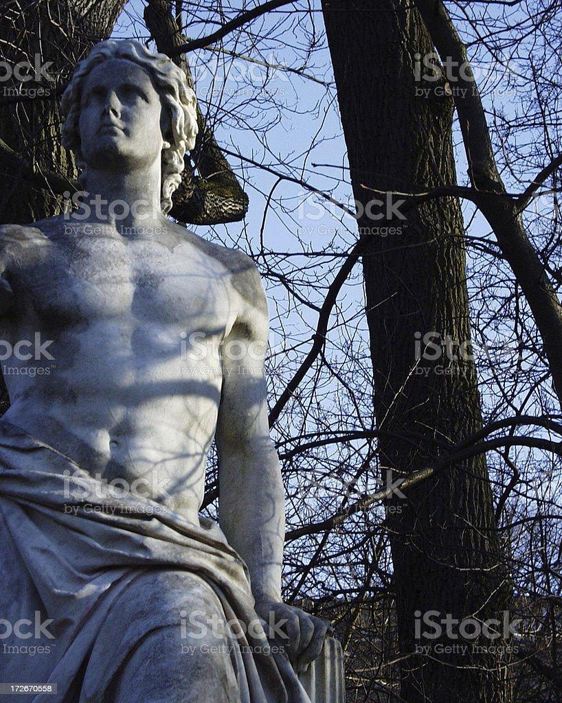 statue in the old botanic garden, tübingen royalty-free stock photo