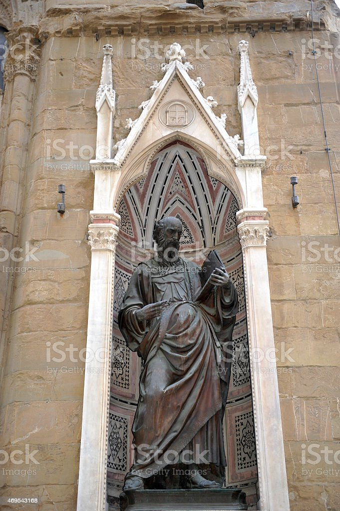 Statue in the town of Florence - Tuscany stock photo
