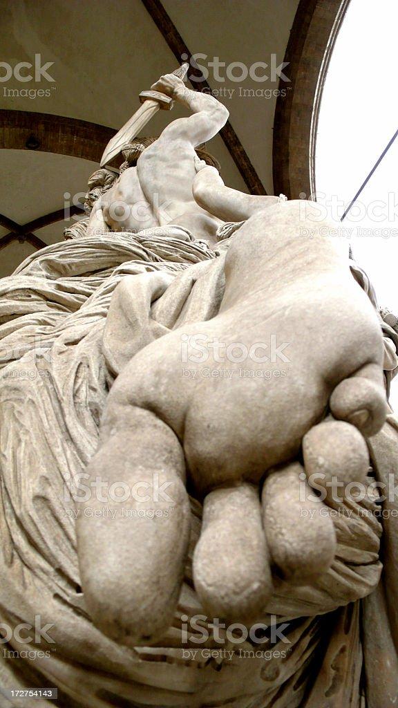 Statue In The Uffizi Plaza, Florence. royalty-free stock photo