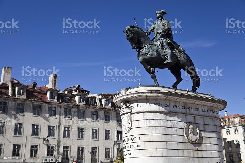 Statue King Joao I royalty-free stock photo