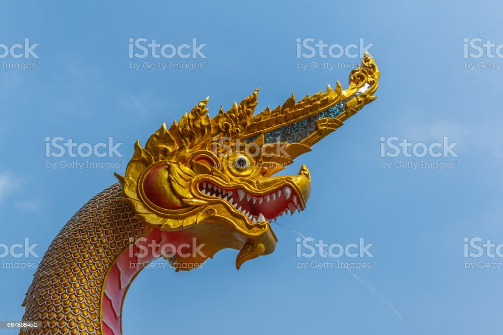 Statue king of nagas stock photo