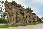 Statue Memory of generations. Memorial complex Mamayev Kurgan in Volgograd