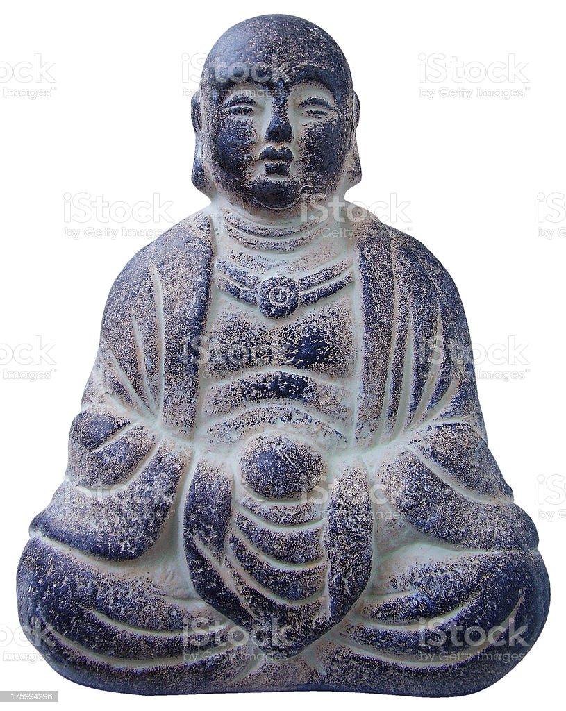 statue of a Buddhist monk stock photo