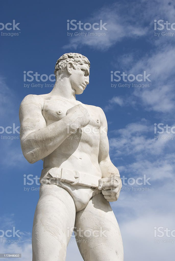Statue of a Fighter with Belt royalty-free stock photo