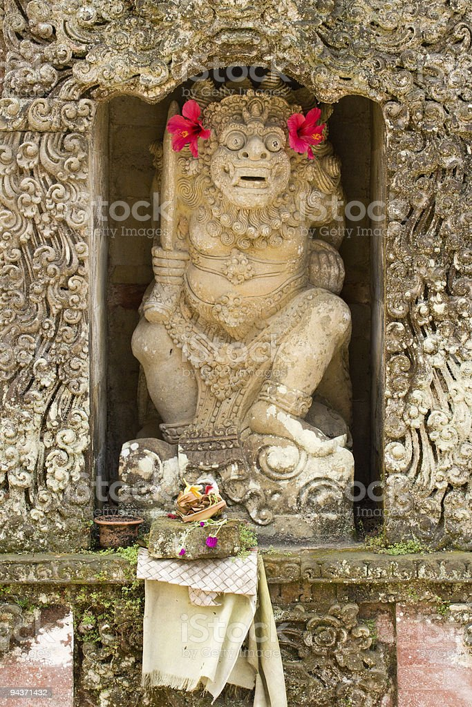 Statue of a god in Hindu temple royalty-free stock photo