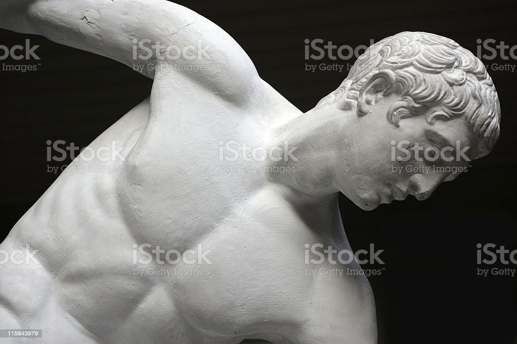 Statue of a greek man royalty-free stock photo