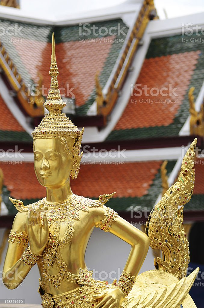 Statue of a legend Kinnaree royalty-free stock photo