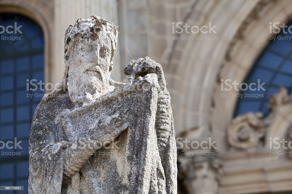 Statue of a musician royalty-free stock photo