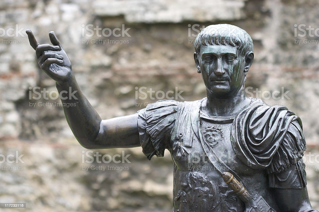 Statue of a Roman Emperor royalty-free stock photo