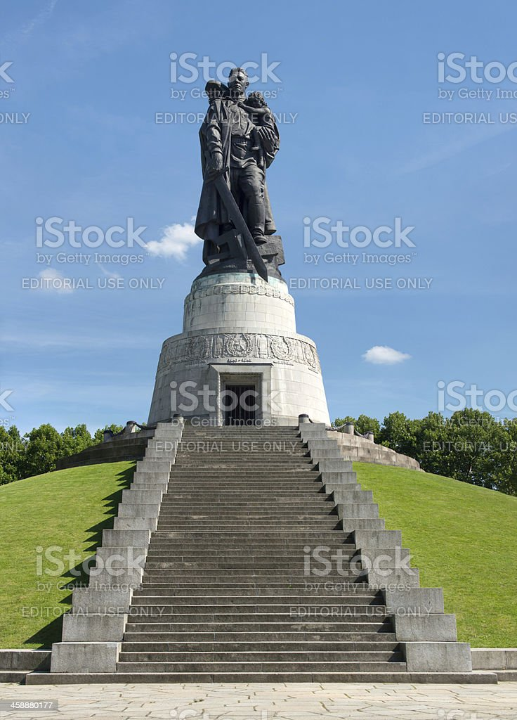 Statue of a Russian soldier in Treptower Park, Berlin, Germany royalty-free stock photo