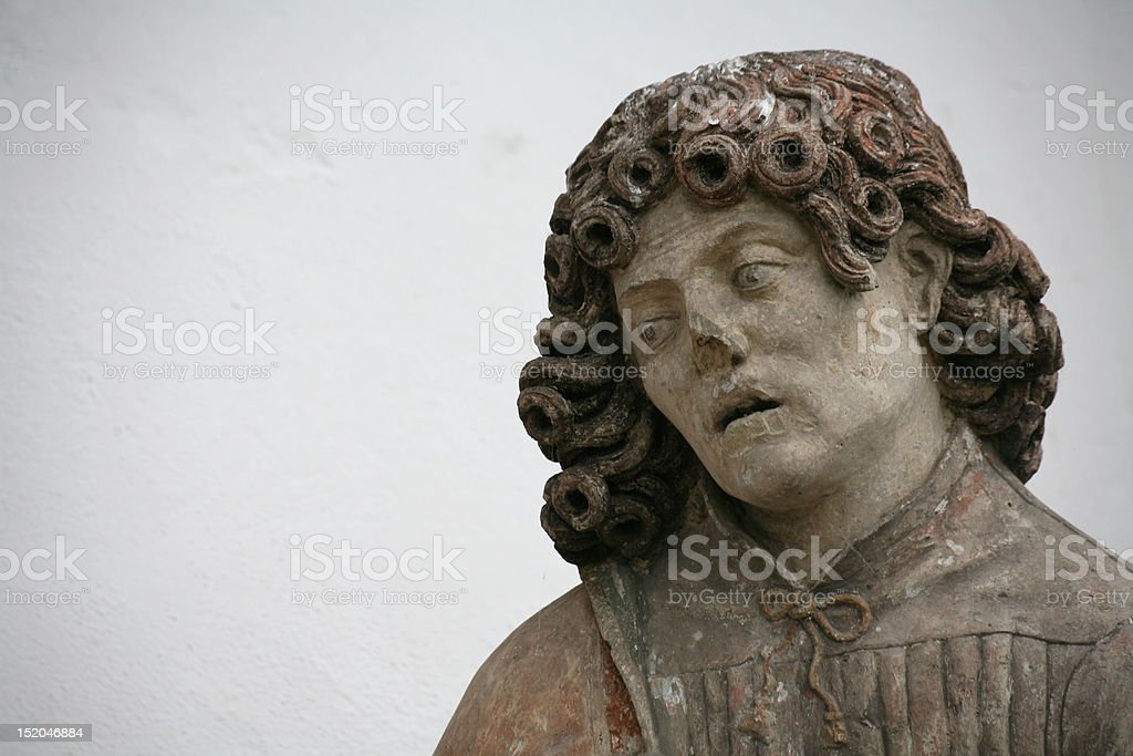 Statue of a saint stock photo