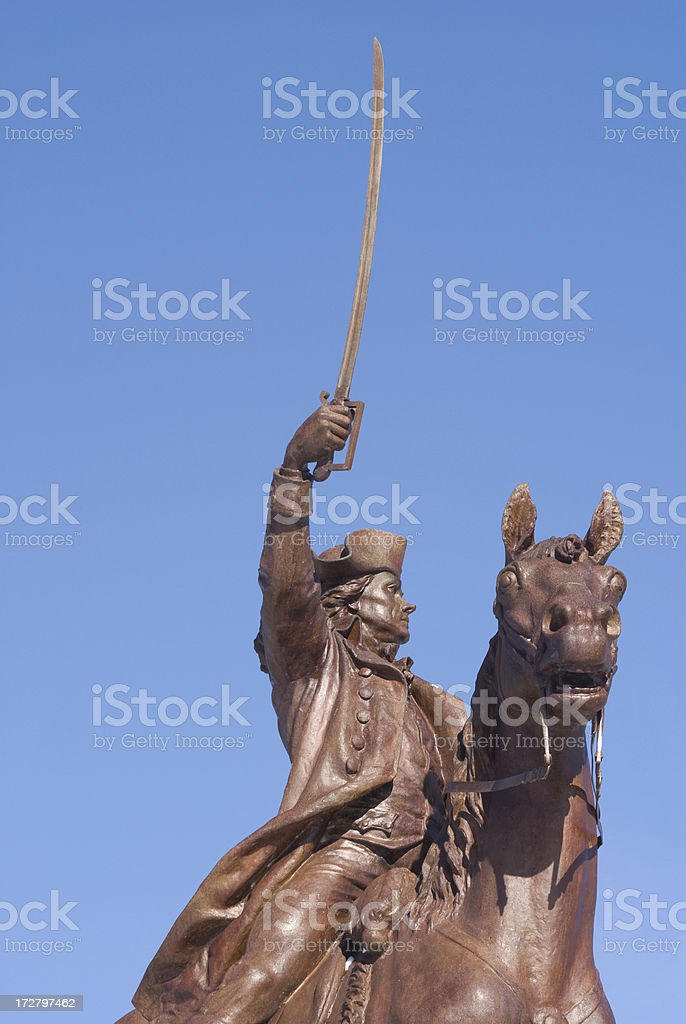 Statue of a War Hero stock photo