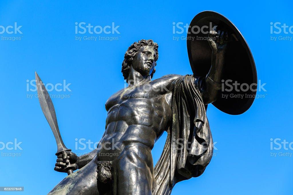 Statue of Achilles stock photo