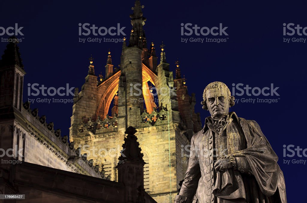 Statue of Adam Smith royalty-free stock photo
