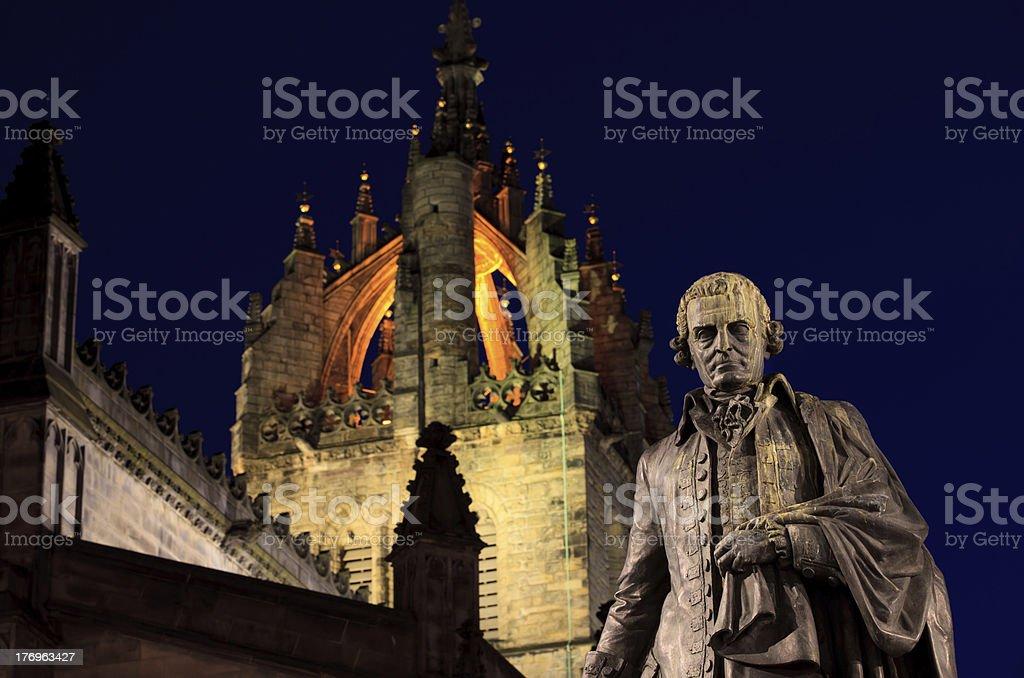 Statue of Adam Smith stock photo