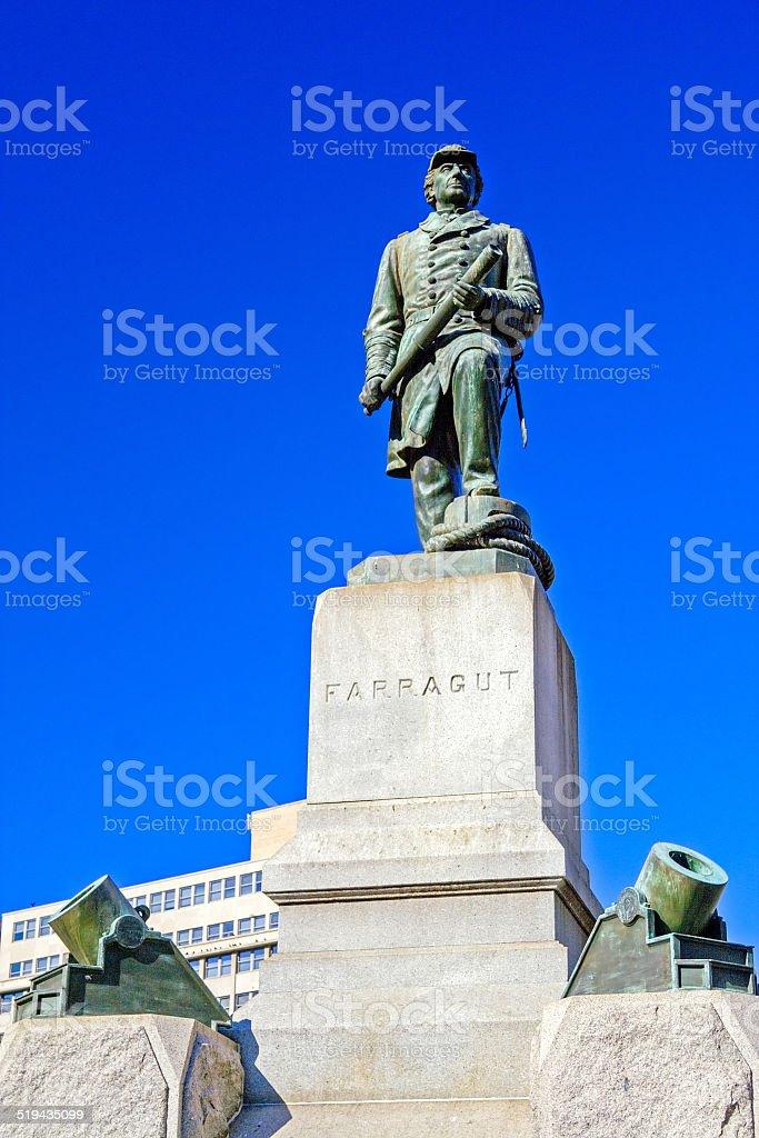 Statue of Admiral Farragut, Washington DC stock photo