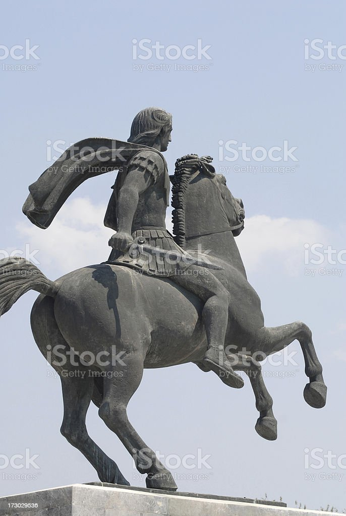 statue of Alexander the Great royalty-free stock photo