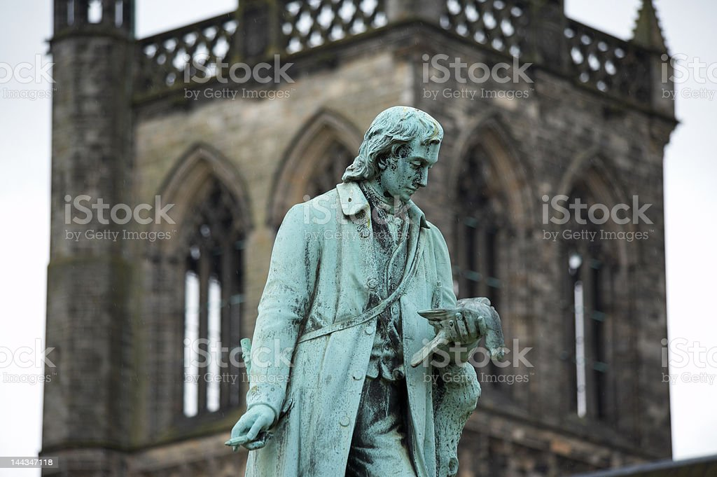 Statue of Alexander Wilson in Paisley, Scotland stock photo