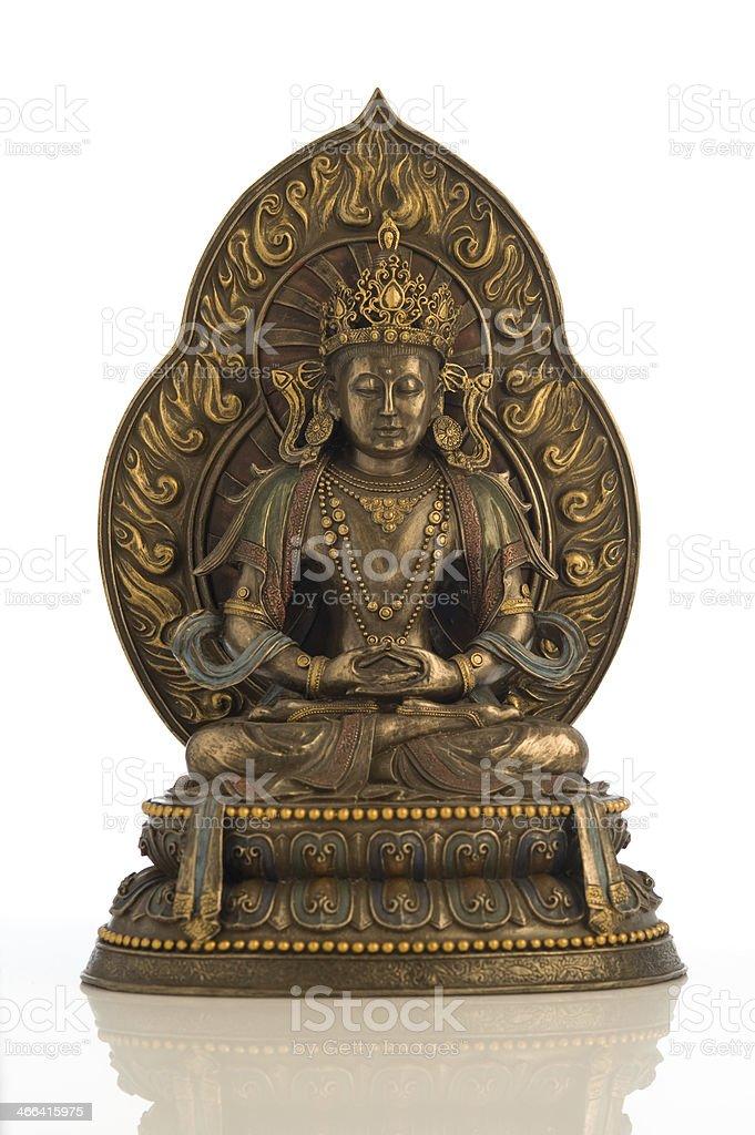 Statue of Amitabha Buddha royalty-free stock photo