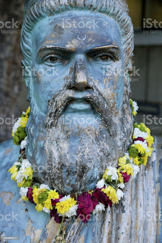 Statue of an ancient philospher stock photo