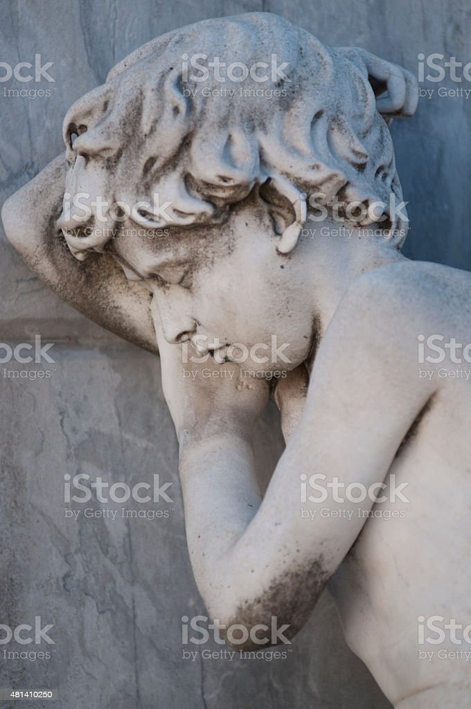 Statue of an angel, Recoleta cemetery stock photo