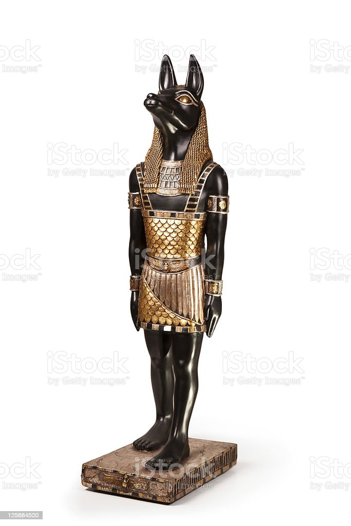 Statue of ancient Egyptian god Anubis royalty-free stock photo