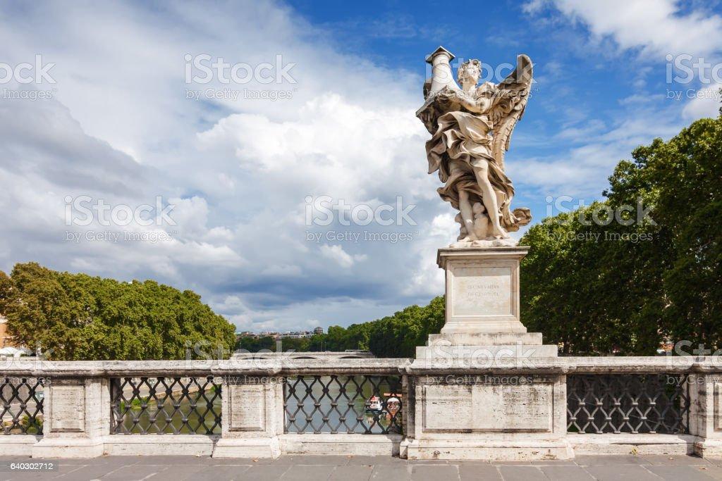 Statue of angel near Vatican in Rome, Lazio region, Italy. stock photo