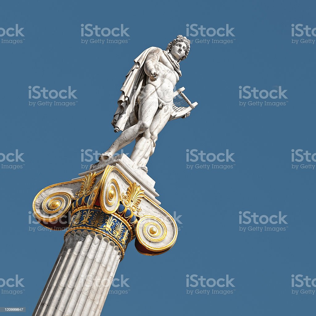 Statue of Apollo, Athens, Greece royalty-free stock photo