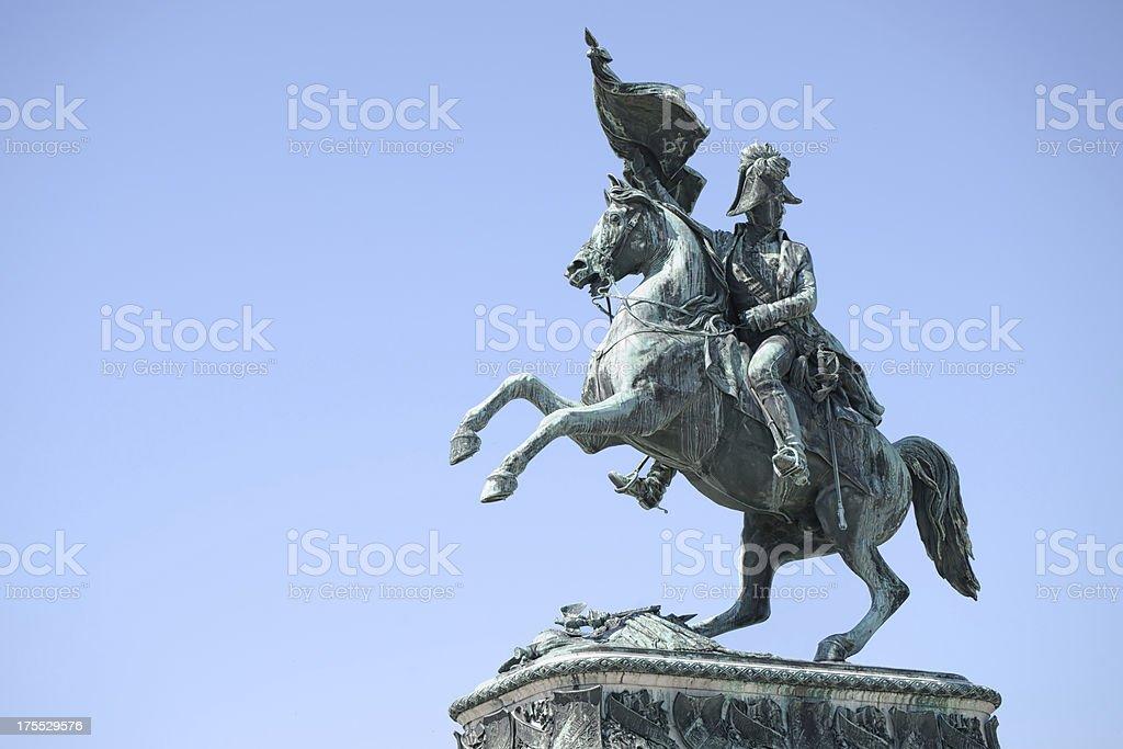 Statue of Archduke Charles stock photo