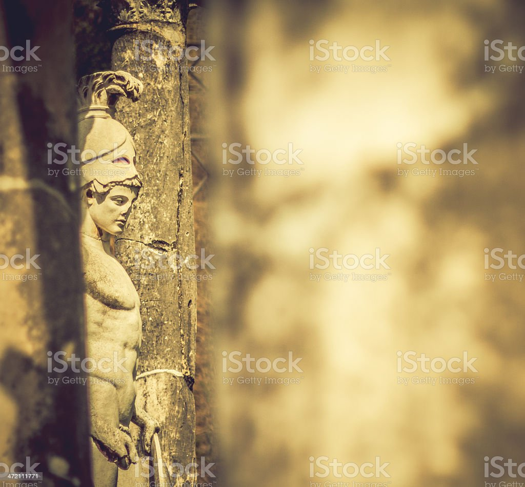 Statue of Ares at Hadrian's Villa, in Rome royalty-free stock photo