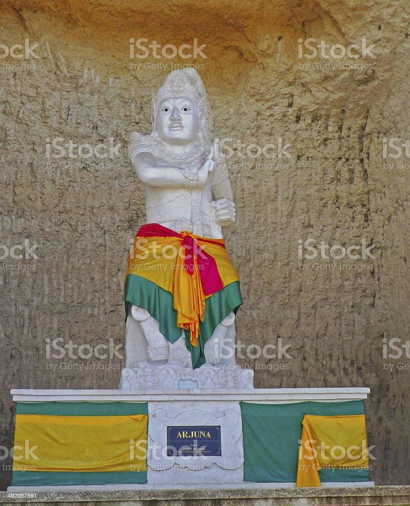 Statue of Arjuna, the Pandawa Beach Bali stock photo