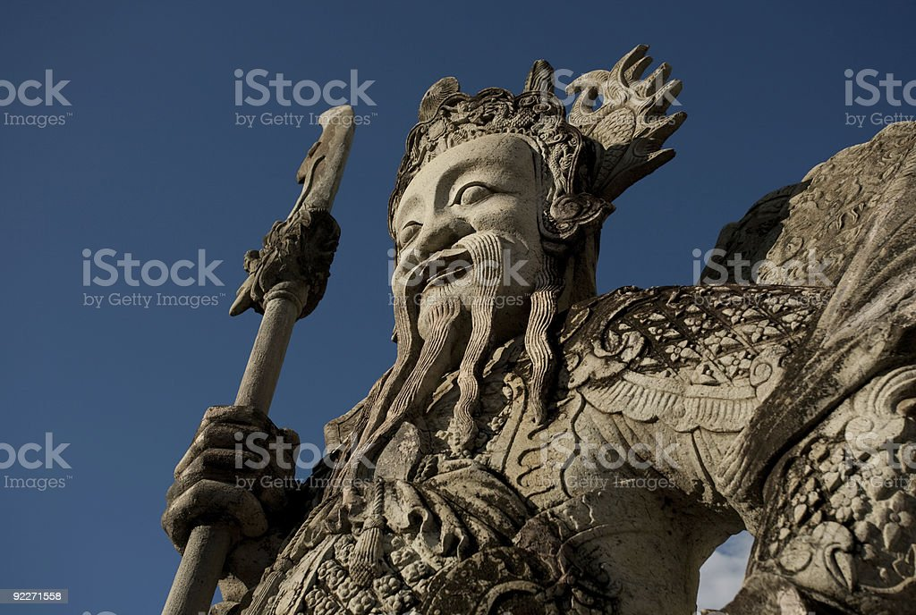 Statue of asian guard royalty-free stock photo
