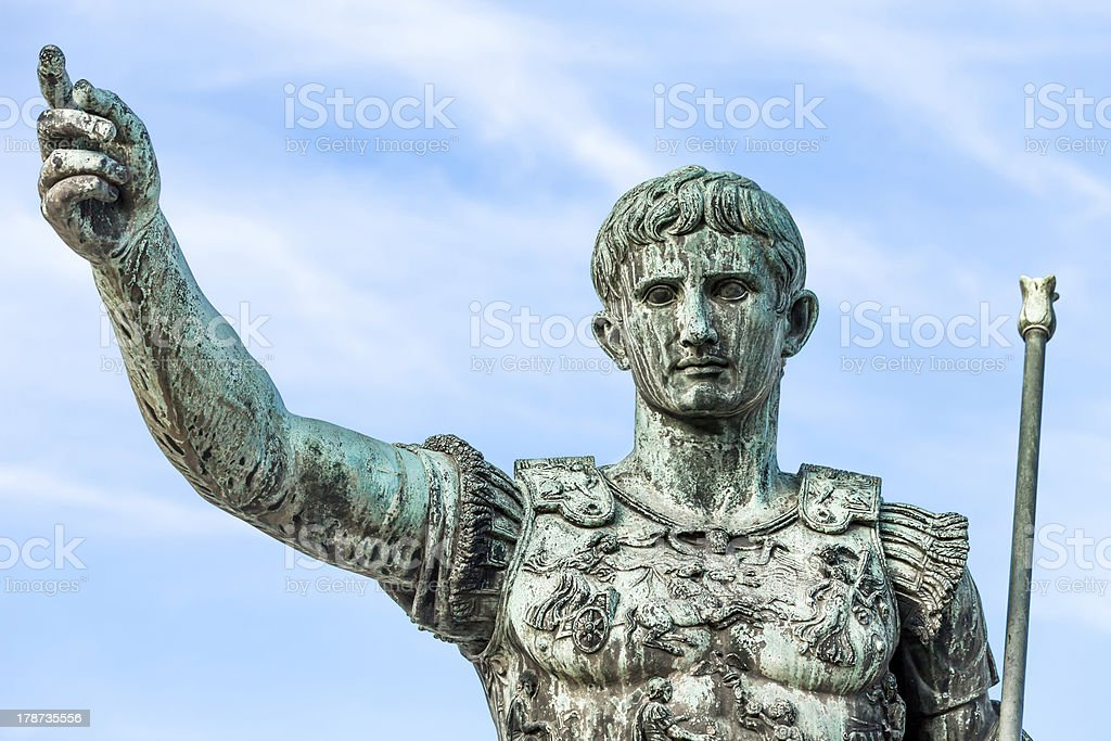Statue Of Augustus Caesar, Rome, Italy stock photo