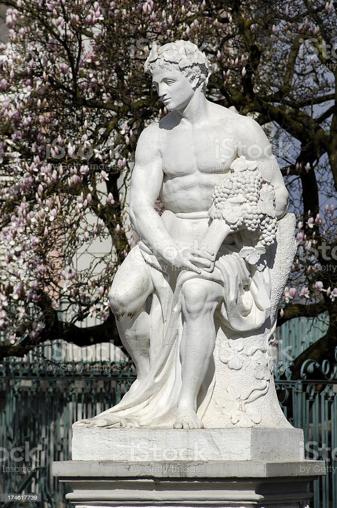 Statue of Bacchus royalty-free stock photo