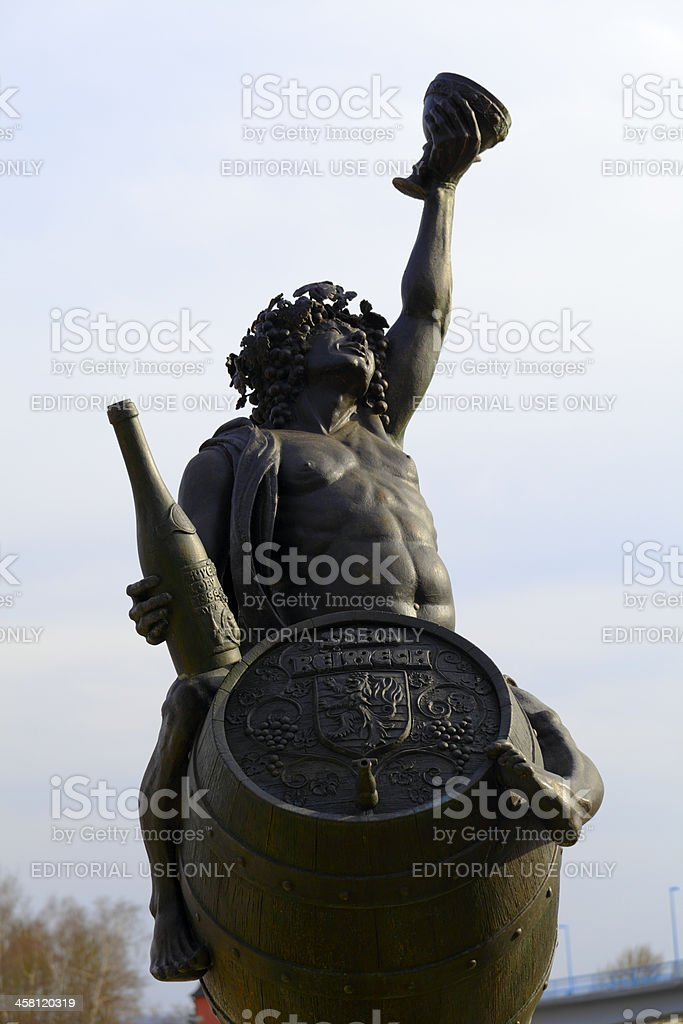 Statue of Bacchus stock photo
